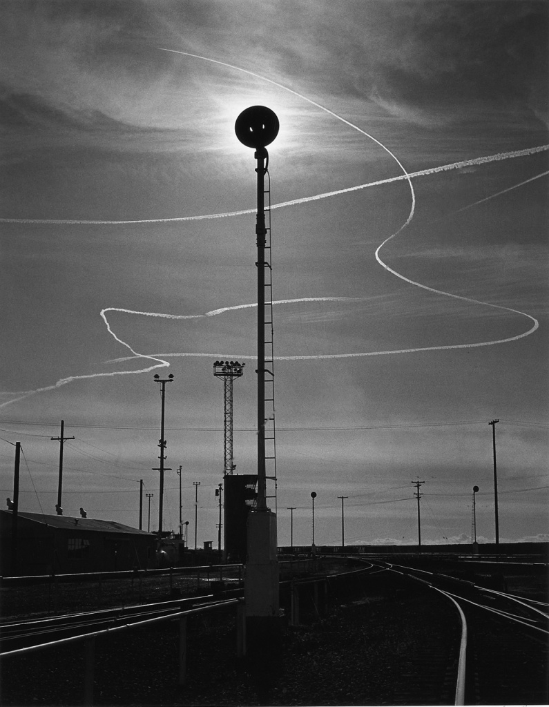 Rails and Jet Trails, Roseville, California, 1953